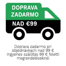 Doprava zadarmo pri objednávkach nad 99 € Ingyenes szállítás 99 € feletti megrendeléseknél